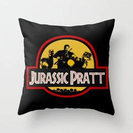 Jurassic Pratt Throw Pillow