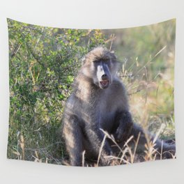 """""""Hey, whassup,"""" said the Baboon Wall Tapestry"""