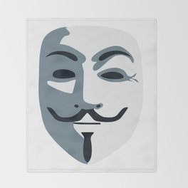Anonymous Mask #society6 #decor #buyart #artprint Throw Blanket