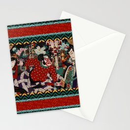 Kabuki Samurai Warriors Stationery Cards
