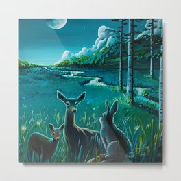 One Night In The Meadow Metal Print