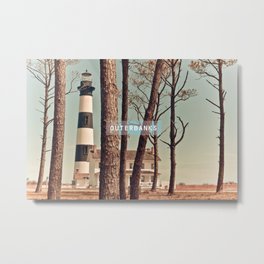 Outer Banks - Bodie Island Lighthouse.  Metal Print