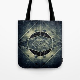 Sacred Geometry for your daily life -  SATURN EYE Tote Bag