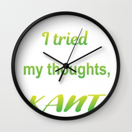 Thoughts Simple Kant Funny Philosophy Gift Wall Clock