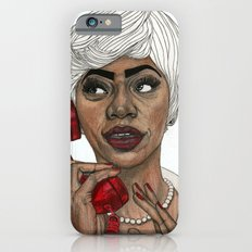 Girl with the Red Telephone iPhone 6s Slim Case
