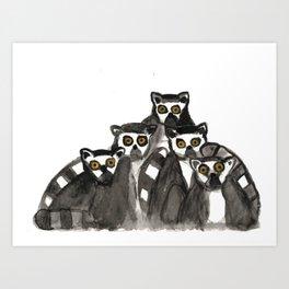 Conspiracy of Lemurs Art Print