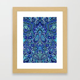 Paisley Blue Framed Art Print