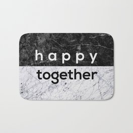 Happy Together Couples Quote Bath Mat