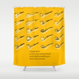 Wise Pipes Shower Curtain
