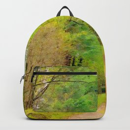 Scottish forest watercolor painting #10 Backpack