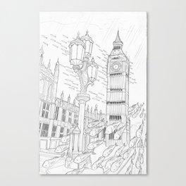 London Underwater Canvas Print
