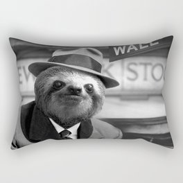 Sloth in Wall Street Rectangular Pillow