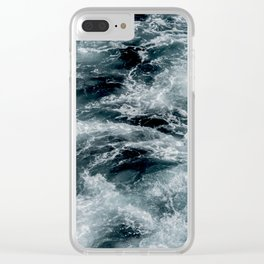 rushing ocean Clear iPhone Case