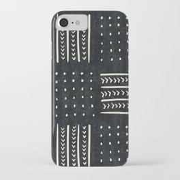 Mud cloth in black and white iPhone Case