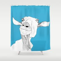 goat Shower Curtains featuring Goat by caseysplace
