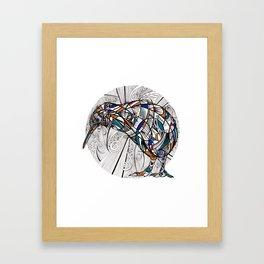 Geometric kiwi Framed Art Print