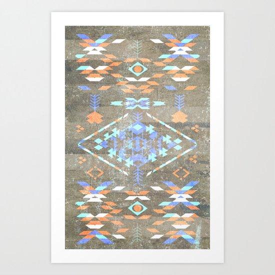 Native Aztec Art Print