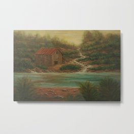 Misty Cove AC160814a Metal Print