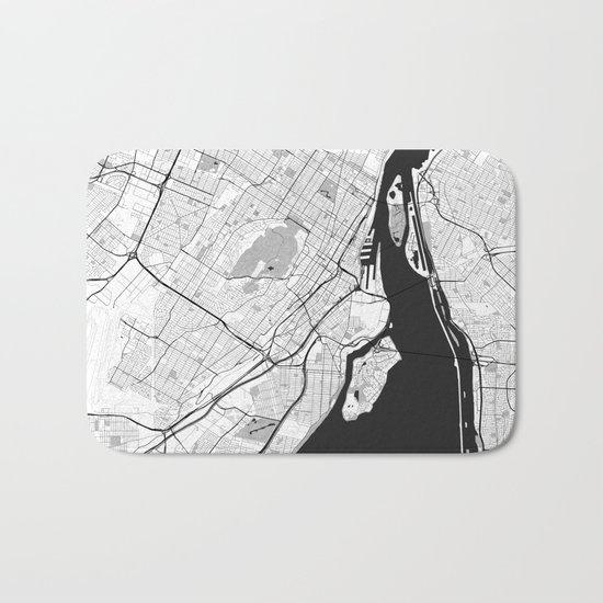 Montreal Map Gray Bath Mat