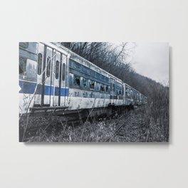 Blue Train An Abandon Trolley graveyard Metal Print