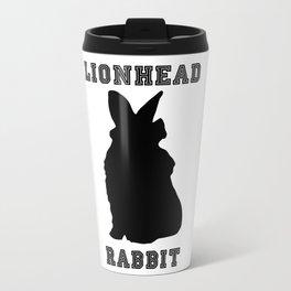 Lionhead Rabbit Silhouette Travel Mug