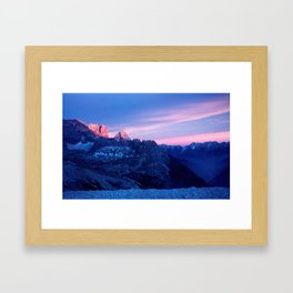 Romantic Sunset in the Snowy Mountains #2 #art #society6 Framed Art Print