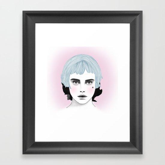 Fashion Illustration - Chanel Blue  Framed Art Print