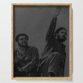 Che Guevara & Fidel Castro in 1961 Serving Tray