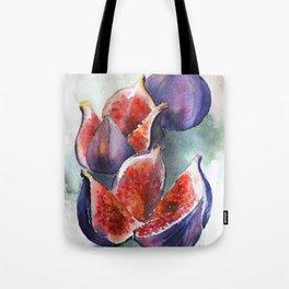 Fig Watercolor Fruits Tote Bag