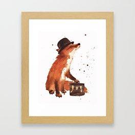 Downtown Fox Framed Art Print
