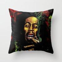 marley Throw Pillows featuring MARLEY - MARLEY by Raisya