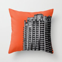 Barbican London (orange) Throw Pillow