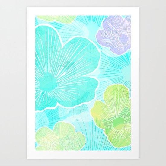 Happy flower Art Print