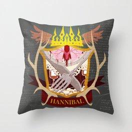 Hannibal Crest Throw Pillow