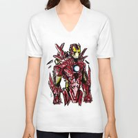 ironman V-neck T-shirts featuring Ironman by Dragon_xD