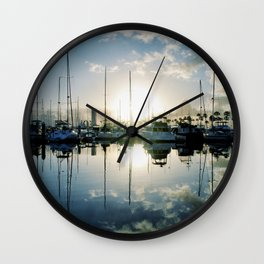 mirrored marina Wall Clock