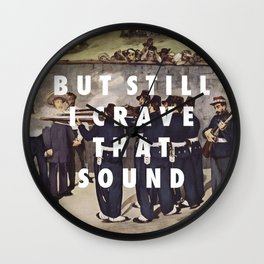 Crave That Sound Wall Clock