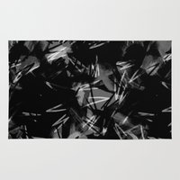 noir Area & Throw Rugs featuring Noir by Raluca Ag