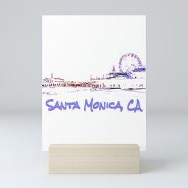 Santa Monica, CA Silhouette Mini Art Print