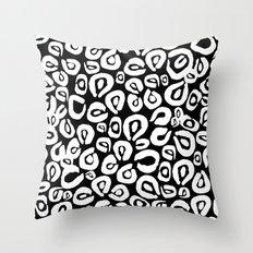 LEOPARD! (black) Throw Pillow