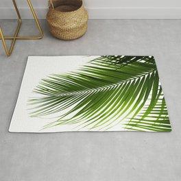 Palm Leaves Green Vibes #10 #tropical #decor #art #society6 Rug