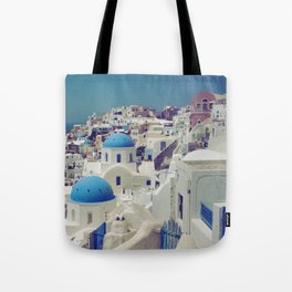 Blue Domes, Oia, Santorini, Greece Tote Bag