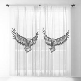 Wild eagle ecopop Sheer Curtain
