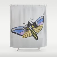 silence of the lambs Shower Curtains featuring Death-Head ... Silence of the Lambs by Paxton Keating