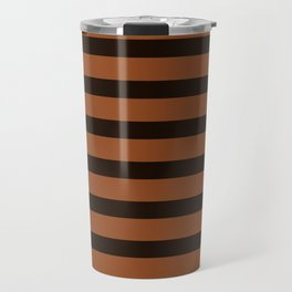 Rich Brown Coffee Stripe Travel Mug