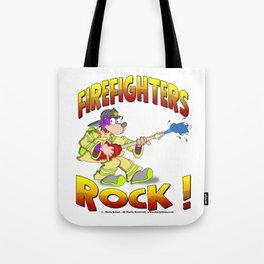 FIRE FIGHTERS ROCK Vibrant Haltone Edition Tote Bag