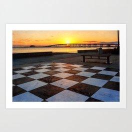 Checkerboard Sunset Art Print