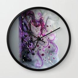 Blossom Wolf Wall Clock