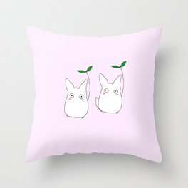 lil Totoros Throw Pillow