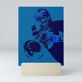 S6 - Louis - Louie - Daniel Armstrong Satchmo - Satch - Pops - Pop Sketch-Art Mini Art Print